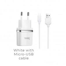 Зарядка hoco C11 Smart (Micro) - Белый