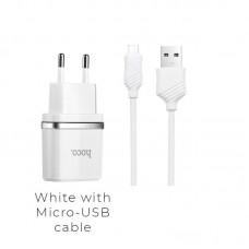 Зарядка hoco C12 Smart (Micro) - Белый