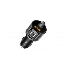 Автомобильное ЗУ hoco E19 Smart bluetooth FM launcher - Серый