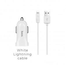 Автомобильное ЗУ hocoZ2 (lightning) - Белый