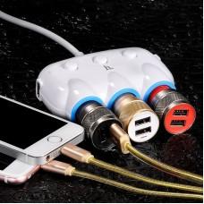 Автомобильное ЗУ hoco C1 Car charger - Белый