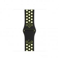 Ремешок Спортивный Apple Watch 38/40mm - Черно/Салатовый