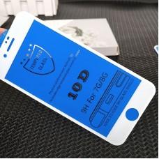 Защитное стекло 10D для Iphone 6/6S Plus - Белое