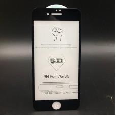 Защитное стекло 5D для Iphone 6/6S - Черное