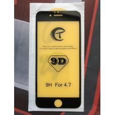 Защитное стекло 9D для Iphone 6/6S - Черное