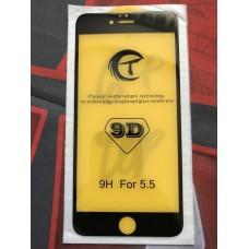 Защитное стекло 9D для Iphone 6/6S Plus - Черное