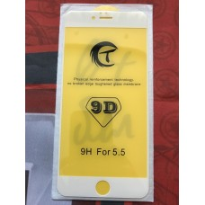 Защитное стекло 9D для Iphone 6/6S Plus - Белое