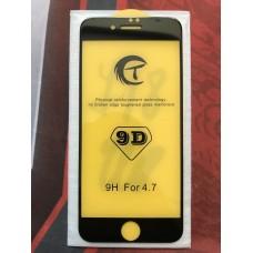 Защитное стекло 9D для Iphone 7/8 - Черное
