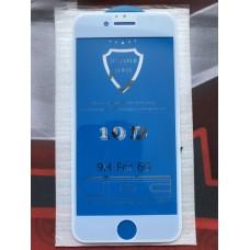 Защитное стекло 10D для Iphone 6/6S - Белое