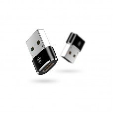 Переходник Baseus Exquisite USB Male to Type-C Female Adapter Converter (CATJQ-A01)- Черный