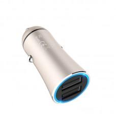 Автомобильное ЗУ hoco Z30A Easy route dual port car charger - Золотой