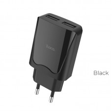 Сетевой адаптер hoco C52A Authority power dual port charger(EU) - Черный