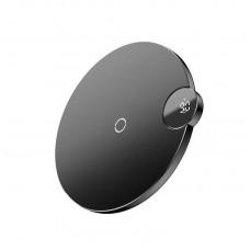 Беспроводная зарядка с дисплеем Baseus Digtal LED Display Wireless Charger (WXSX-01) - Черная