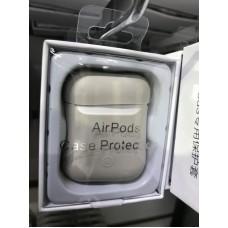 Чехол силиконовый new для AirPods - Светло/Серый