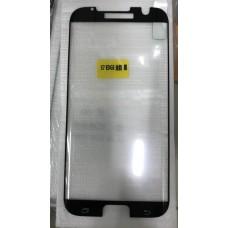 """Защитное стекло """"Full Glue"""" для Samsung S7 EDGE - Черный (тех.пак)"""
