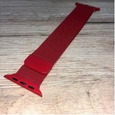 Ремешок Миланский сетчатый 42/44mm - Красный