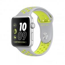 Ремешок Спортивный Apple Watch 38/40mm - Grey/Lime