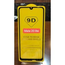"""Защитное стекло """"Full Glue"""" Huawei Mate 20 Lite - Черный (тех.пак)"""