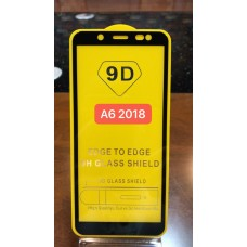 """Защитное стекло """"Full Glue"""" для Samsung A6 2018 - Черный (тех.пак)"""