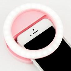 Селфи кольцо для телефона - Розовый