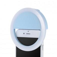 Селфи кольцо для телефона - Голубой