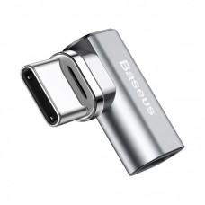 Переходник Baseus Mini Magnetic Type-C Elbow Adapter Converter (CATCX-0G) - Серебристый