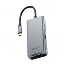 Мультипереходник Baseus Square Desk Type-C Multi-Functional Hub USB 3.0 * 3 VGA (CATXF-A0G)