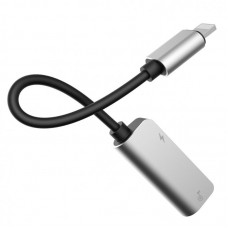 Кабель переходник Baseus iP Male to iP + iP Female Adapter L37 (CALL37-S1) - Серебристый