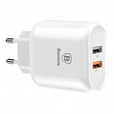Сетевой Адаптер Baseus Bojure Series Dual-USB quick charge charger for23W EU (CCALL-AG02) - White