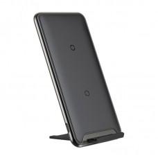 Беспроводное зарядное Baseus Three-coil Wireless Charging Pad With desktop holder (WXHSD-B01) - Black