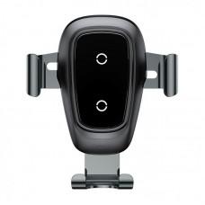 Автодержатель с беспроводной зарядкой Baseus Metal Wireless Charger Gravity CarMount (WXYL-B0A) - Черный