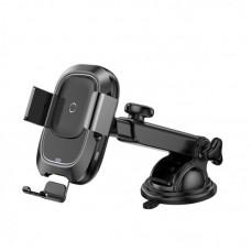 Автомобильный держатель для телефона с беспроводной быстрой зарядкой Baseus Smart Vehicle Bracket Wireless Charger Sucker style (WXZN-B01) - Black