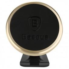 Автомобильный держатель Baseus 360-degree Rotation Magnetic Mount HolderLuxury (SUGENT-NT0V) - Золотой
