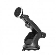 Автомобильный держатель Baseus Solid Series Telescopic Magnetic Car Mount (SULX-0S) - Серебристый