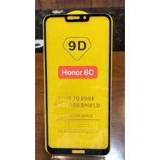 """Защитное стекло """"Full Glue""""Huawei Honor 8C - Черный (тех.пак)"""