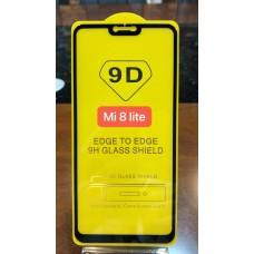 """Защитное стекло """"Full Glue"""" Xiaomi Mi 8 Lite - Черный (тех.пак)"""