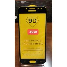 """Защитное стекло """"Full Glue"""" для Samsung J530 (J5 PRO / J5 2018) - Черный (тех.пак)"""