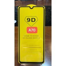 """Защитное стекло """"Full Glue"""" для Samsung A70 - Черный"""