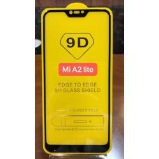 """Защитное стекло """"Full Glue"""" Xiaomi Mi A2 Lite - Черный (тех.пак)"""