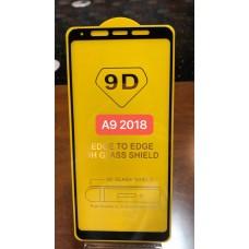"""Защитное стекло """"Full Glue"""" для Samsung A9 2018 - Черный (тех.пак)"""