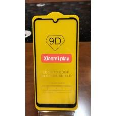 """Защитное стекло """"Full Glue"""" Xiaomi Play- Черный (тех.пак)"""