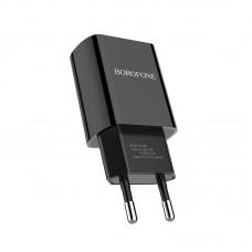 Сетевой адаптер Borofone BA20A Sharp single port charger (EU) - Черный