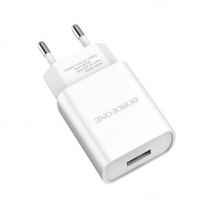Сетевой адаптер Borofone BA20A Sharp single port charger (EU) - Белый