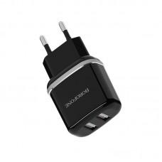 Сетевой адаптер Borofone Wall charger BA25A - Black
