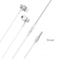 Наушники Borofone Wired earphones BM22 Boundless - Silver