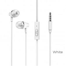 Наушники Borofone BM21 Graceful universal earphones - Белый
