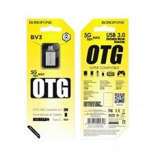 Переходник Adapter USB-A to USB-C BOROFONE BV3