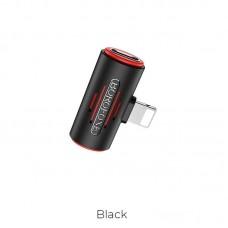 Аудио-Переходник Borofone Audio converter Lightning to dual Lightning BV6 Comfortable - Black