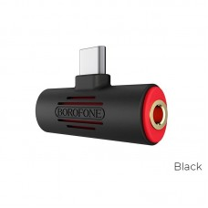 Аудио-Переходник Borofone Audio converter USB-C to USB-C & 3.5mm jack BV8 - Black