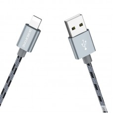 Кабель Borofone Cable USB to Lightning BX24 Ring current - Gray